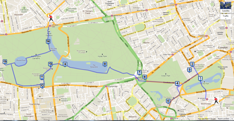 Sightseeing Map Of London.Royal London Walk Sightseeing For Tourists And Visitors