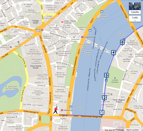 Map London Bridge.The Queen S Walk London Sightseeing For Tourists And Visitors