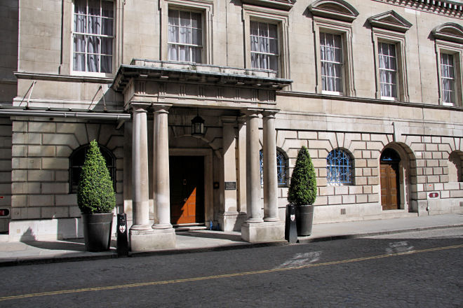 main entrance to Mansion House
