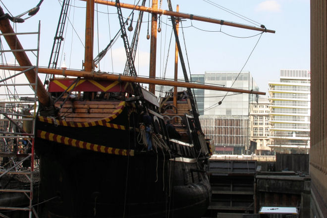 golden hinde in dry dock