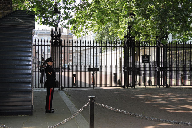 clarence house with queens guard