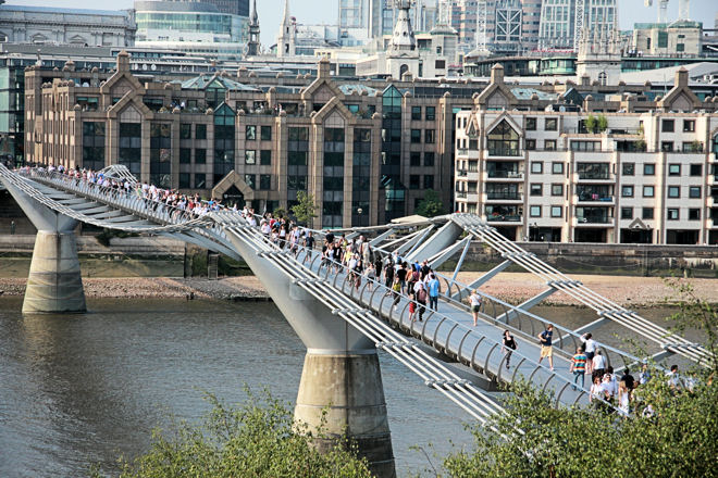 London Millennium Footbridge The Queen S Walk